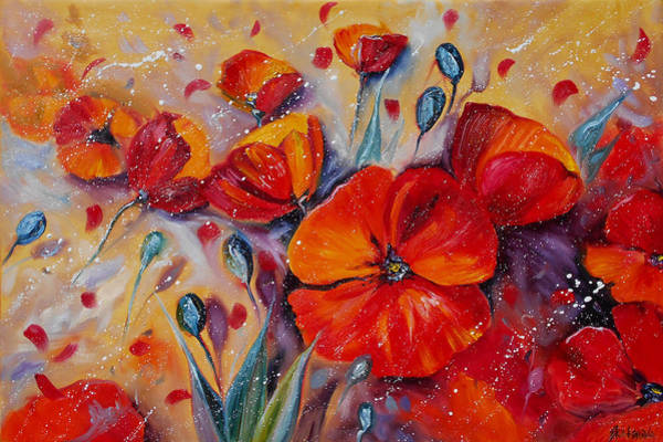 Painting - Red Poppy Meadows by Ekaterina Chernova