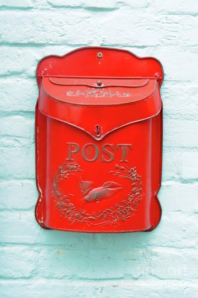 Wall Art - Photograph - Red Post Box by Tom Gowanlock