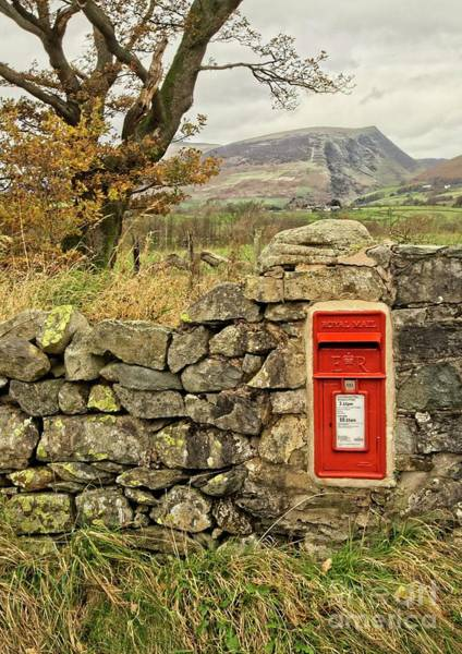 Photograph - Red Postbox Down A Country Lane by Martyn Arnold