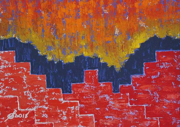 Painting - Red Pueblo Original Painting by Sol Luckman