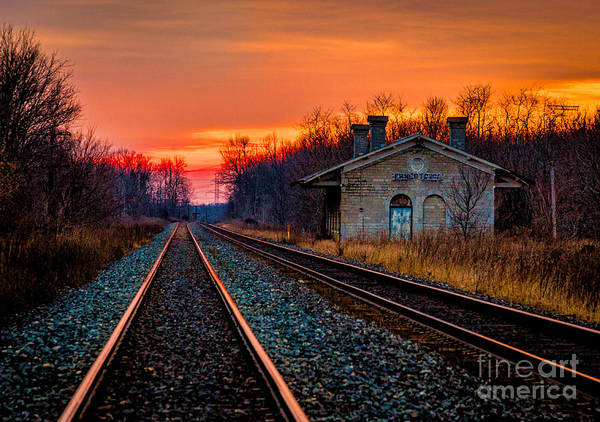 Photograph - Red Rails by Roger Monahan