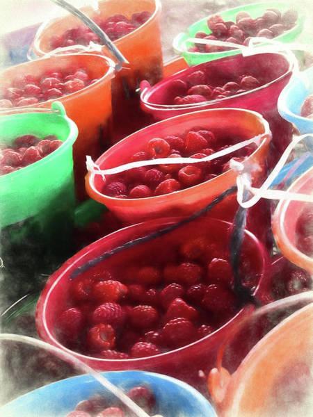 Wall Art - Photograph - Red Raspberries by Winnie Chrzanowski