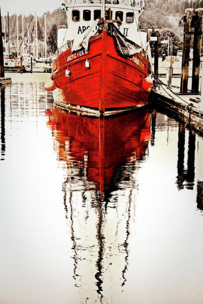 Vancouver Mixed Media - Red Reflection by Priscilla Huber
