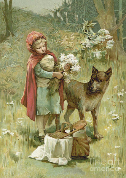 Picnic Basket Wall Art - Painting -  Red Riding Hood by John Lawson