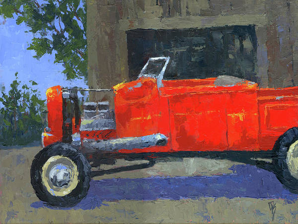 Painting - Red Roadster Pickup by David King