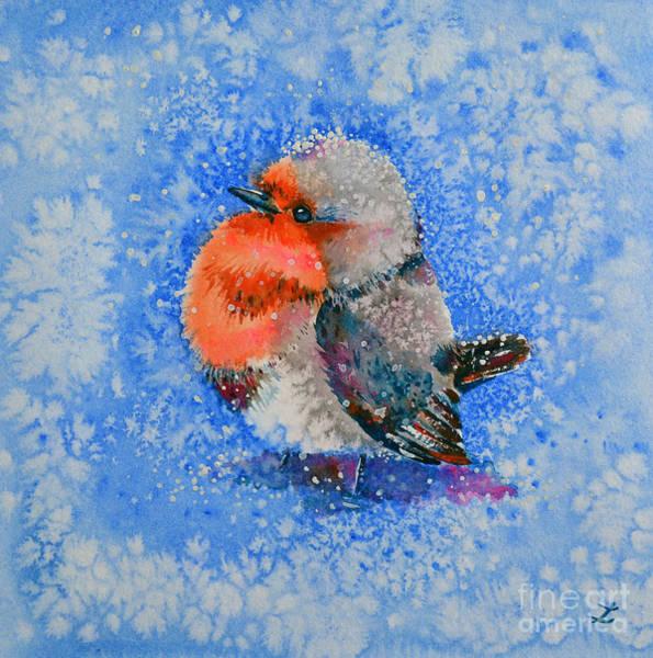 It Professional Painting - Red Robin by Zaira Dzhaubaeva
