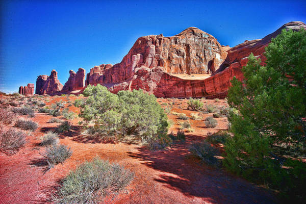 Photograph - Red Rock Arches National Park by Lawrence Christopher
