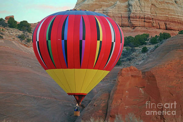 Wall Art - Photograph - Red Rock Balloon by Rick Mann