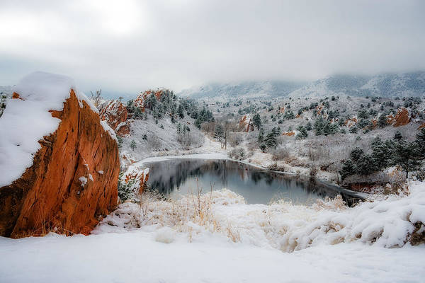 El Paso County Photograph - Red Rock Canyon In Winter 2 by Dale Poll