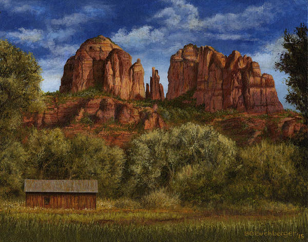 Oak Creek Canyon Painting - Red Rock Cathedral by Brian Buchberger