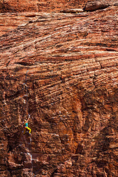 Photograph - Red Rock Climber by Stuart Litoff
