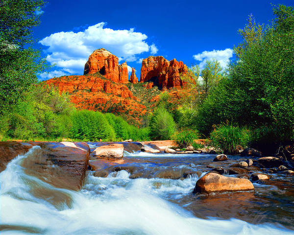 Cathedral Photograph - Red Rock Crossing by Frank Houck