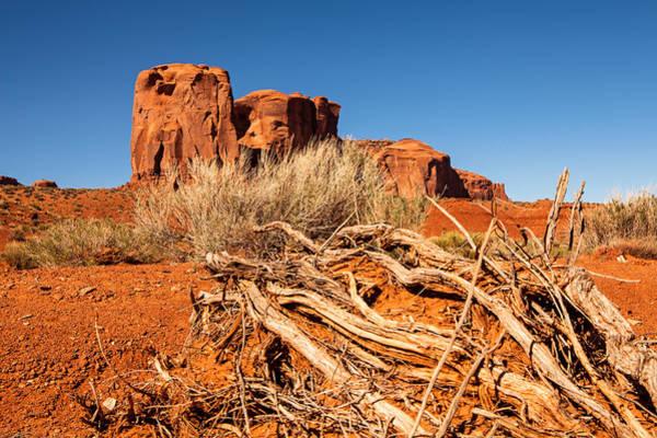 Wall Art - Photograph - Red Rock Desert In Monument Valley Utah by Susan Schmitz