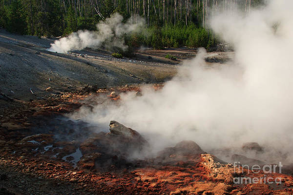 Photograph - Red Rock Fumarole by Charles Kozierok
