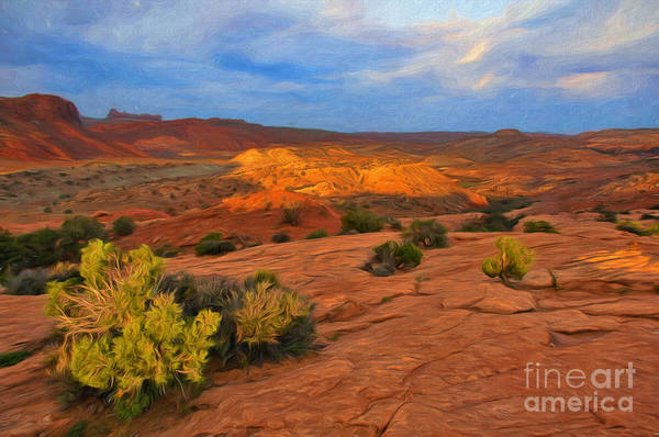 Photograph - Red Rock Landscape by Sharon Seaward