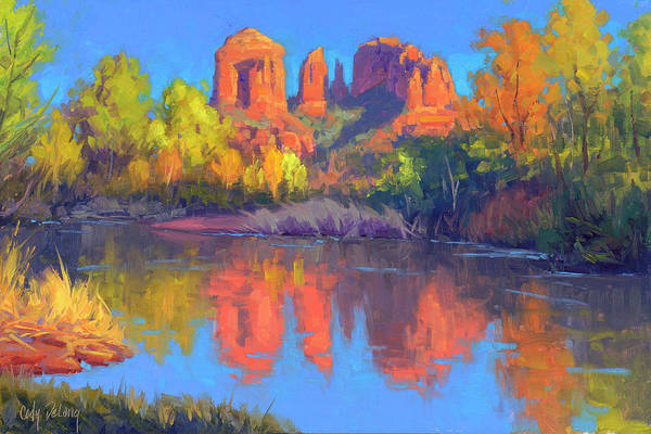 Wall Art - Painting - Red Rock Oasis by Cody DeLong