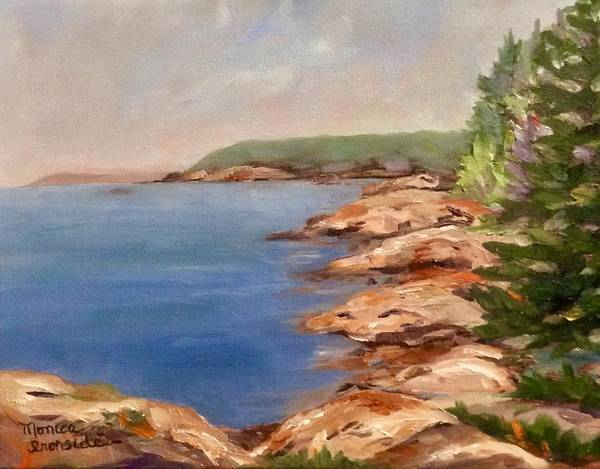 Painting - Red Rock Point, Killarney by Monica Ironside