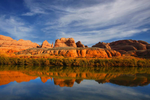Photograph - Red Rock River Reflections by Mark Smith