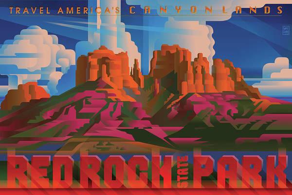 Southwest Digital Art - Red Rock State Park Arizona by Garth Glazier