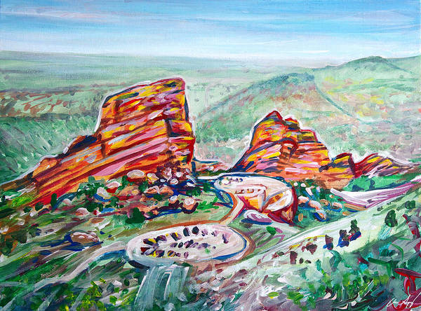 Painting - Red Rocks Amphitheatre by Aaron Spong