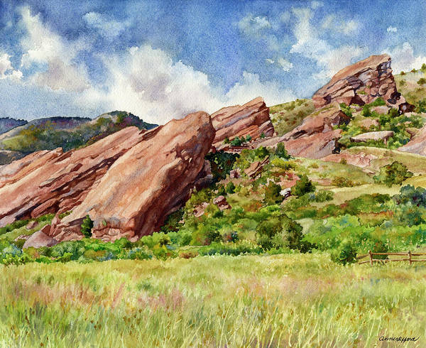 Painting - Red Rocks Amphitheatre by Anne Gifford