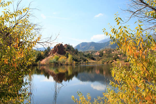 El Paso County Photograph - Red Rocks Canyon Open Space Lake #3 - Colorado by Allison Jennings
