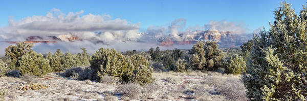 Photograph - Red Rocks In The Clouds by Leda Robertson