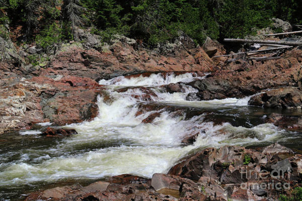 Photograph - Red Rocks Of Chippewa Falls by Rachel Cohen