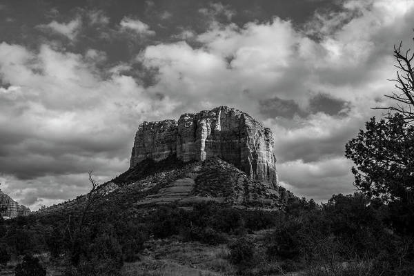 Photograph - Red Rocks Sedona Bnw 1 by David Haskett II