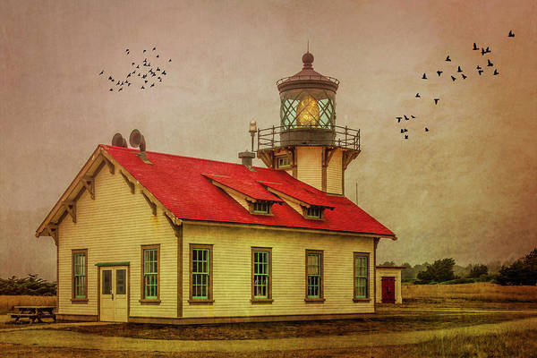 Carrillo Photograph - Red Roof Point Cabrillo Light Station by Garry Gay