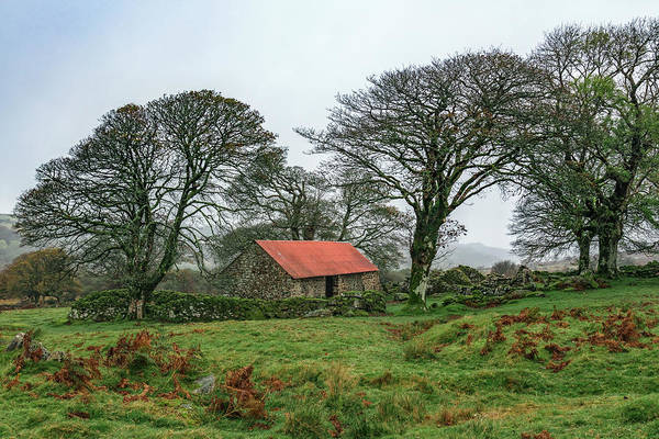Dartmoor National Park Photograph - Red Roofed Barn by Joana Kruse