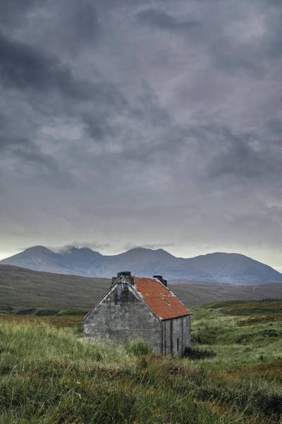 Moorland Photograph - Red Roofed Bothy by Joana Kruse
