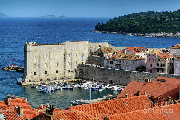 Photograph - Red Roofs And Old Harbor From The City Walls, Dubrovnik, Croatia by Global Light Photography - Nicole Leffer