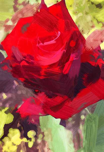 Wall Art - Painting - Red Rose by Chris Butler