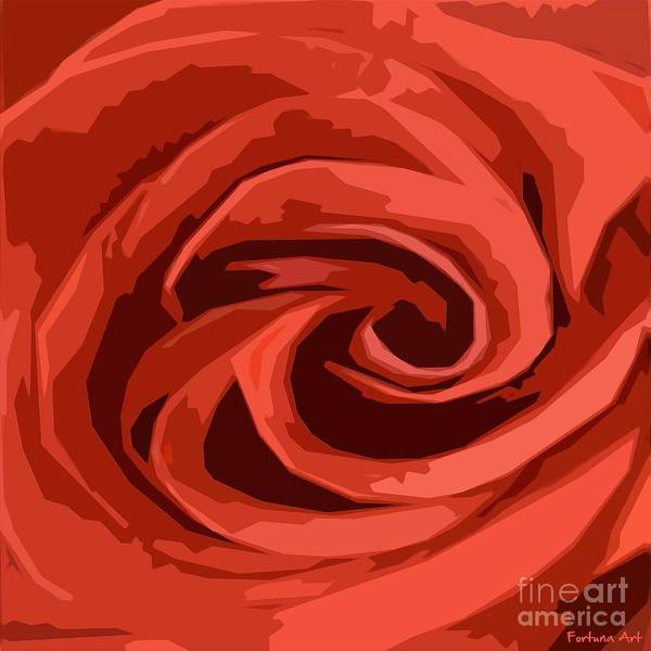 Wall Art - Painting - Red Rose by Dragica Micki Fortuna