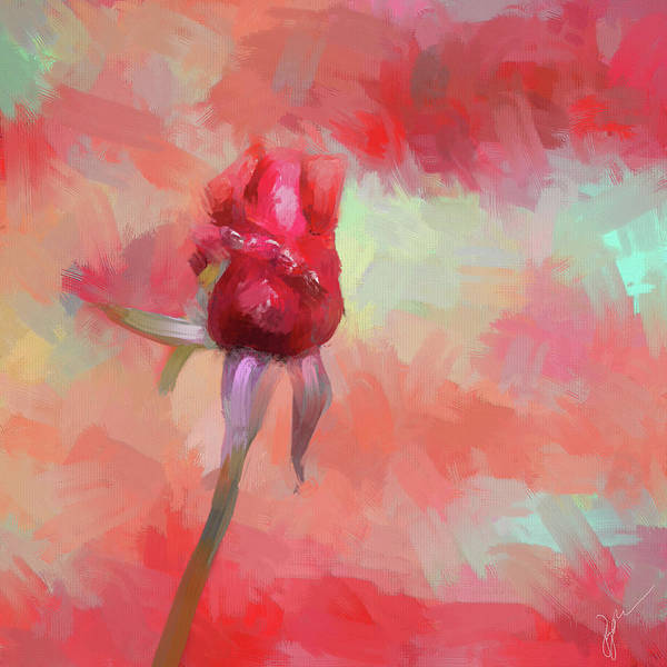 Painting - Red Rose In Spring by Jai Johnson
