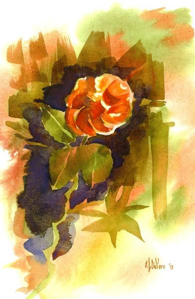 Painting - Red Rose In The Garden by Kip DeVore