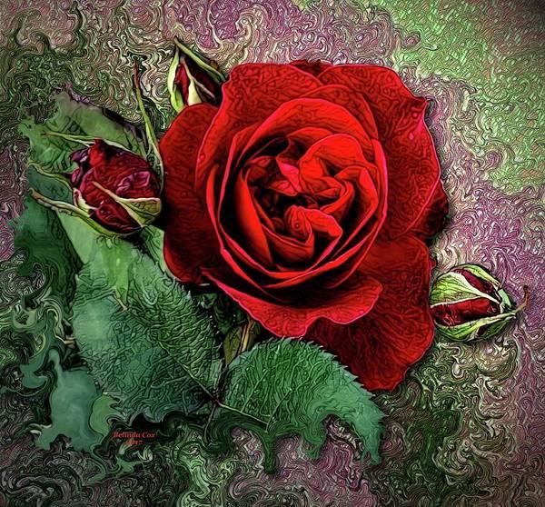 Digital Art - Red Roses by Artful Oasis