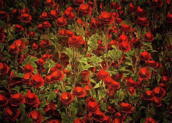 Painting - Red Roses by Jan Keteleer