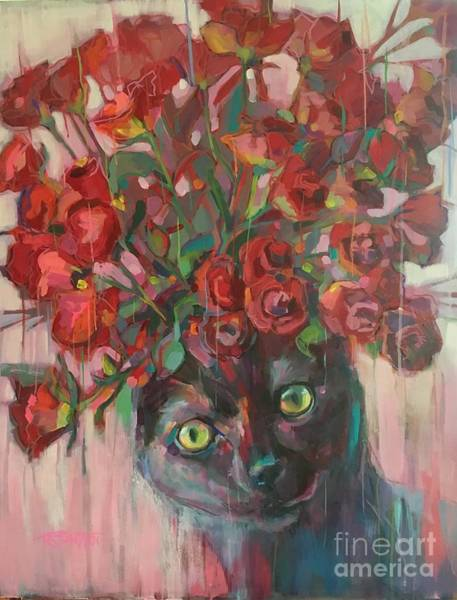 Wall Art - Painting - Red Roses by Kimberly Santini