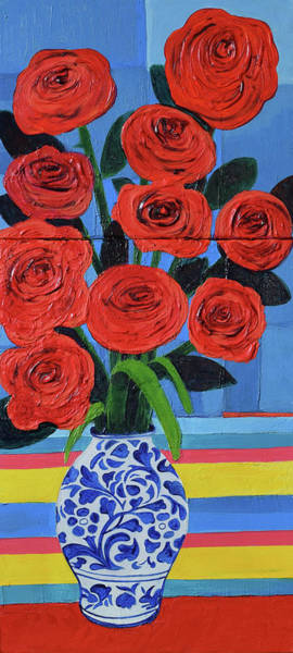 Amaryllis Painting - Red Roses by Stephen Humphries
