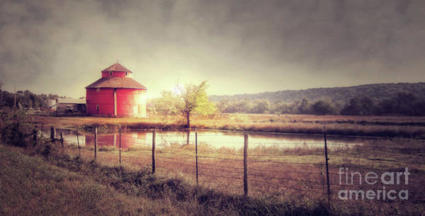Photograph - Red Round Barn by Tim Wemple