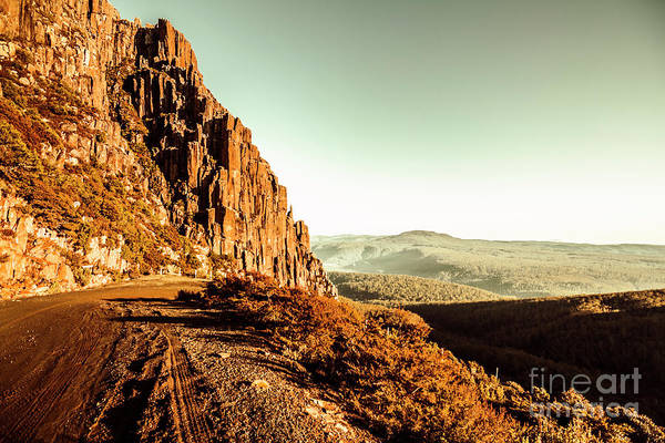 Ben Photograph - Red Rural Road by Jorgo Photography - Wall Art Gallery