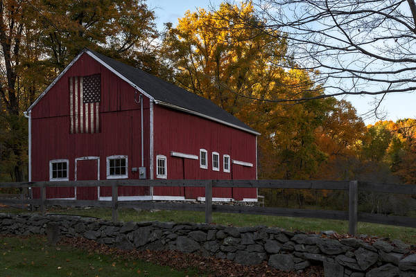 Photograph - Red Rustic Barn by Susan Candelario