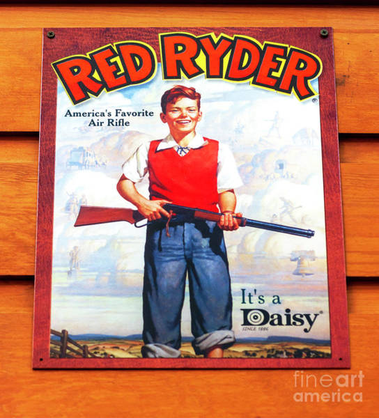 Wall Art - Photograph - Vintage Red Ryder Poster  by John Rizzuto