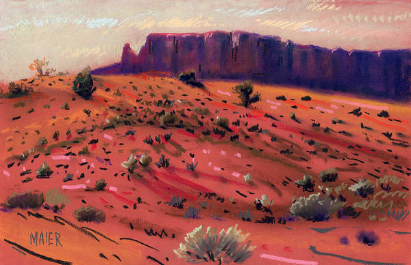 Monument Valley Navajo Tribal Park Wall Art - Painting - Red Sand by Donald Maier