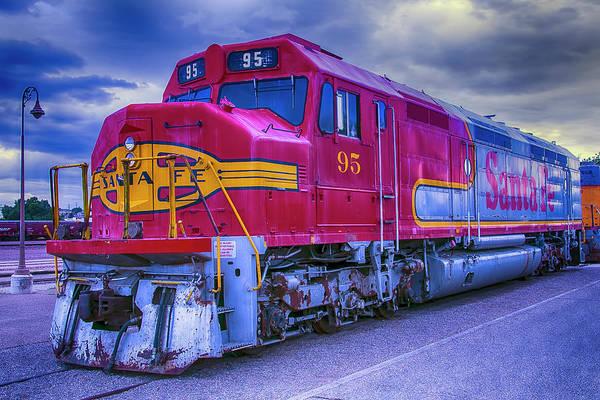 Commuter Rail Wall Art - Photograph - Red Santa Fe 95 by Garry Gay