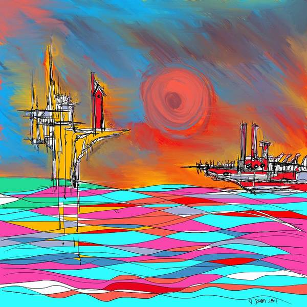 Mixed Media - Red Sea by Jason Nicholas