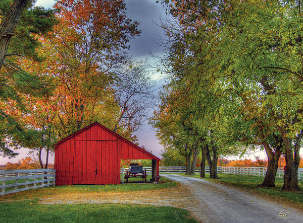 Photograph - Red Shaker Carriage Barn by Sam Davis Johnson