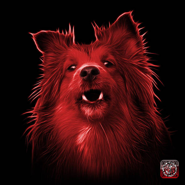 Painting - Red Sheltie Dog Art 0207 - Bb by James Ahn
